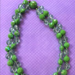 Jewelry - Vintage Austrian acrylic bright green necklace
